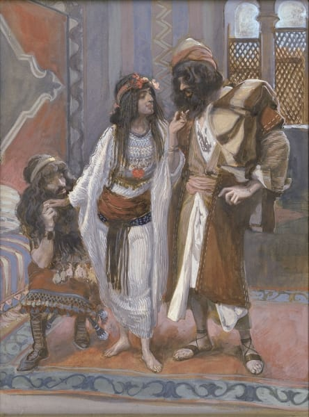 James Tissot, The Harlot of Jericho and the Two Spies.